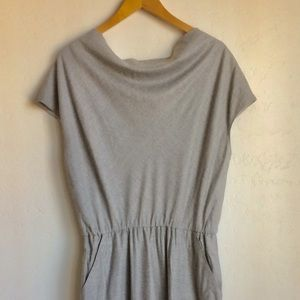 St John Woven Lined Dress Size 6 Light Grey